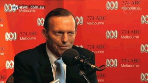 Abbott on the air -- and in the gutter