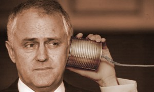 Communications Minister Malcolm Turnbull test drives the NBN